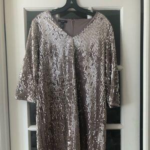 Sequin v-neck sheath dress